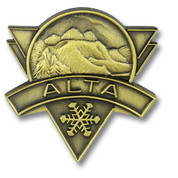 Alta Bronze Ski Resort Pin