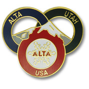 Alta Three Ring Ski Resort Pin