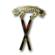Brighton Cross Skis Ski Resort Pin