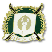 Deer Valley Cross Skis Ski Resort Pin