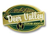 Deer Valley Oval Ski Resort Pin