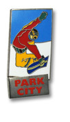 Park City Snowboarder Ski Resort Pin