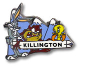 Killington Toons Ski Resort Pin