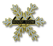 Mount Snow Flake Ski Resort Pin