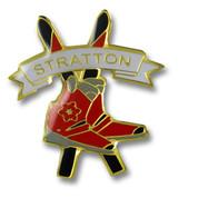 Stratton Skis & Boots Ski Resort Pin