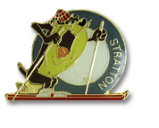 Stratton Taz Ski Resort Pin