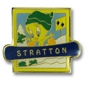Stratton Tweety Ski Resort Pin