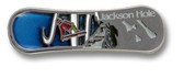 Jackson Hole Board Ski Resort Pin