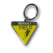 Heavenly Yield Ski Resort Keychain Front
