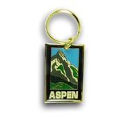Aspen Mountain Ski Resort Keychain Front