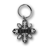 Aspen Snowflake Ski Resort Keychain Front