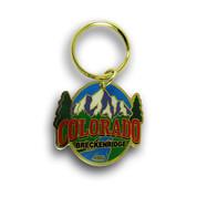 Breckenridge Mountain Ski Resort Keychain Front