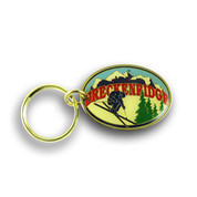 Breckenridge Oval Ski Resort Keychain Front