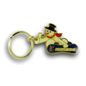 Breckenridge Snowman Board Ski Resort Keychain