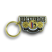 Breckenridge Three Circle Ski Resort Keychain Front