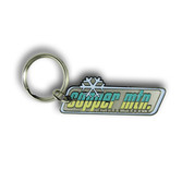 Copper Rectangular Ski Resort Keychain