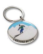 Crested Butte Ski Resort Keychain Front