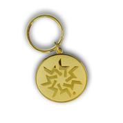 Keystone Gold Flake Keychain Front