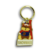 Bear Snowmass Ski Resort Keychain Front