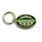 Oval Snowmass Keychain Front