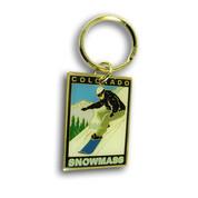 Snowmass Snowboarder Keychain Front