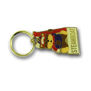 Steamboat Bear Keychain Front