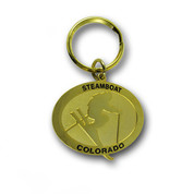 Steamboat Gold Keychain Front