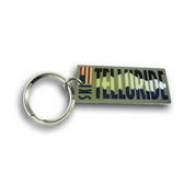 Telluride Rectangular Keychain Front