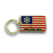 Vail Flag Keychain Front