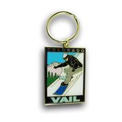 Vail Snowboarder Keychain