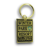 Winter Park Black & Gold Keychain Front