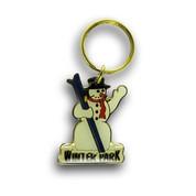 Winter Park Snowman Keychain Front
