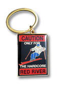 Red River Caution Keychain Front