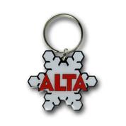 Alta Snowflake Ski Resort Keychain