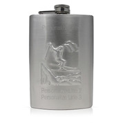 Skier Flask Front