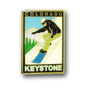 Keystone Snowboarder Magnet