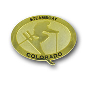 Steamboat Gold Color Magnet