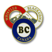 "Whistler Blackcomb ""BC"" Canada Ski Resort Pin"