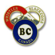 "Whistler Blackcomb ""BC"" Canada Ski Resort Pin"