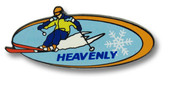 Heavenly Oval Ski Resort Pin