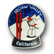 Squaw Valley Globe Ski Resort Pin