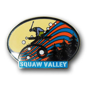 Squaw Valley Oval Ski Resort Pin