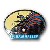 Squaw Valley Oval Ski Resort Pin