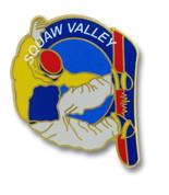 Squaw Valley Snowboarder Ski Resort Pin