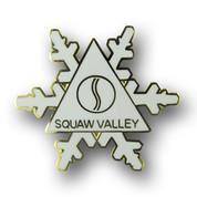 Squaw Valley White Flake Ski Resort Pin