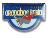 Arapahoe Basin Blue Board Ski Resort Pin