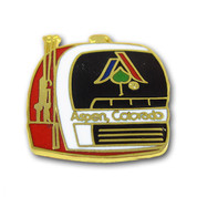 Aspen Gondola Ski Resort Pin