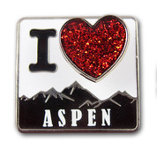 Aspen Red Heart Ski Resort Pin