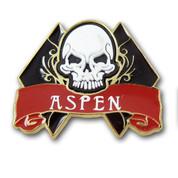 Aspen Skull and Diamond Ski Resort Pin