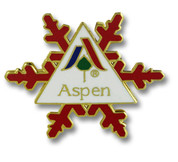 Aspen Snow Flake Ski Resort Pin